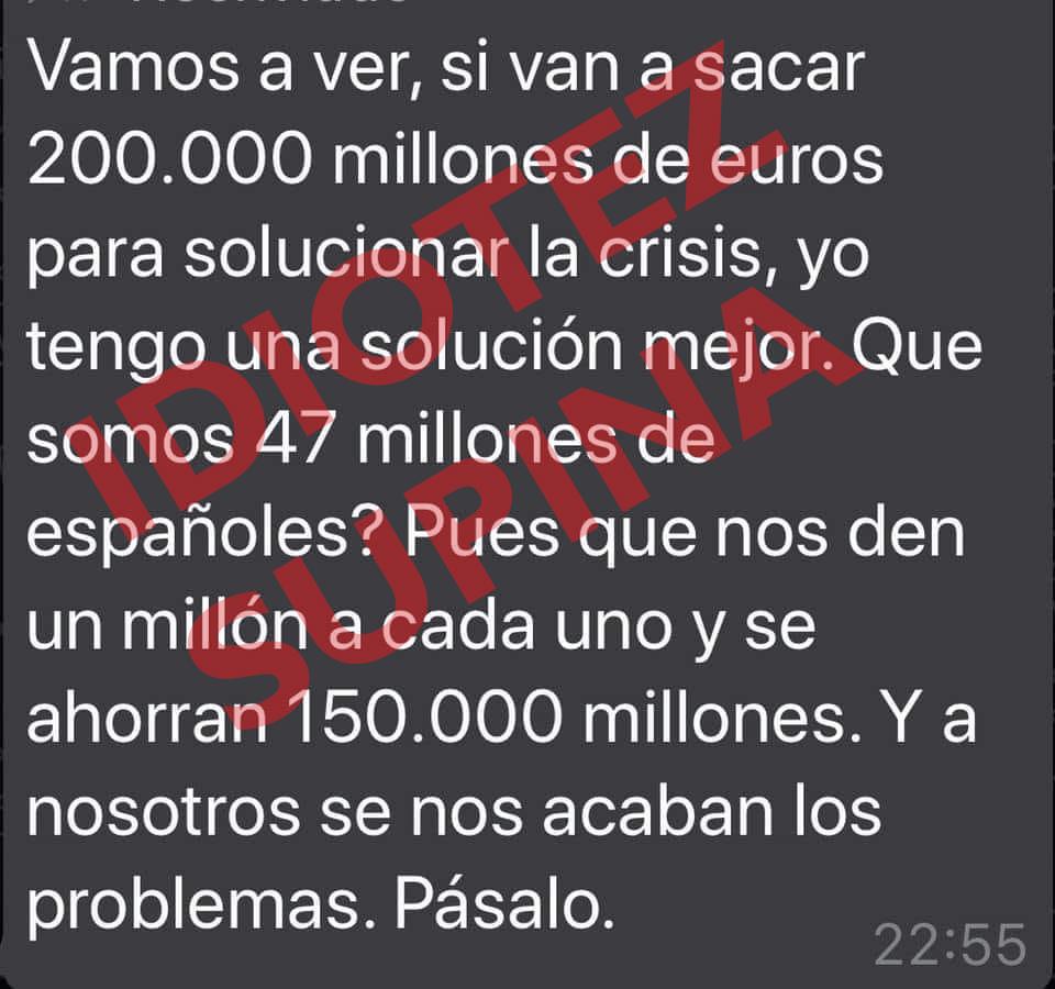 idiotez de los 200.000 millones de euros