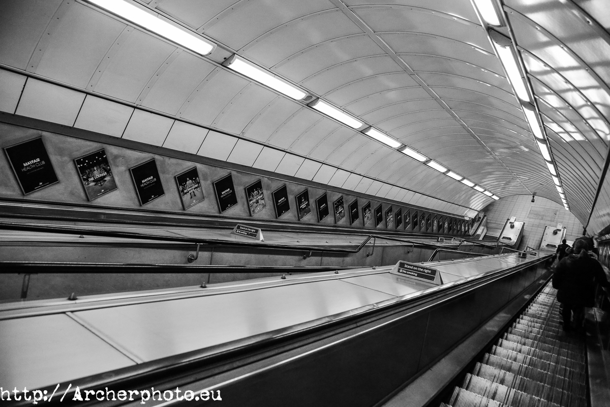 London Underground, Archerphoto, samples of professional photography in Spain