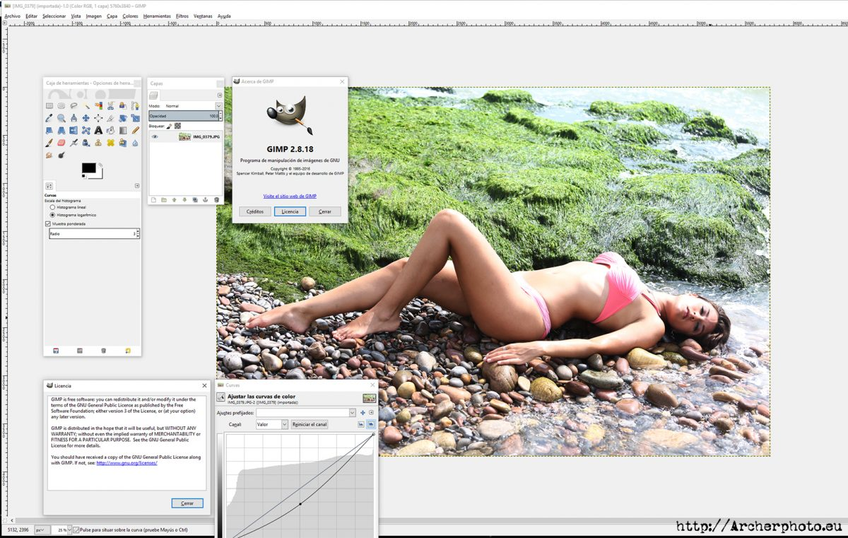 Edit photos with free software: GIMP