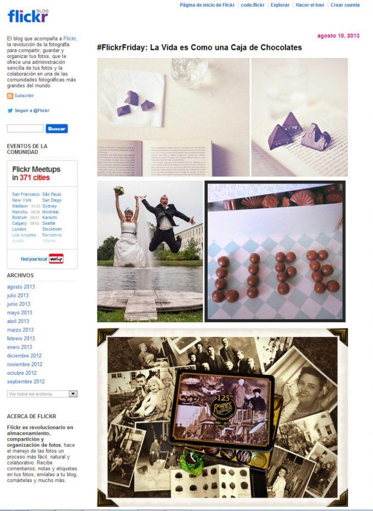 Captura de pantalla de Flickr Blog. Los derechos corresponden al autor de cada foto.