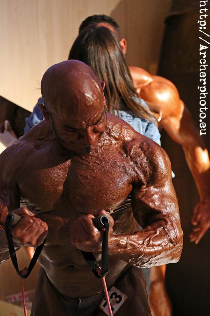 José María Forte, Campeonato AEFF Oropesa 2012, calentando en backstage antes de salir al escenario