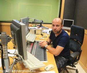 Miguel Coll en el estudio