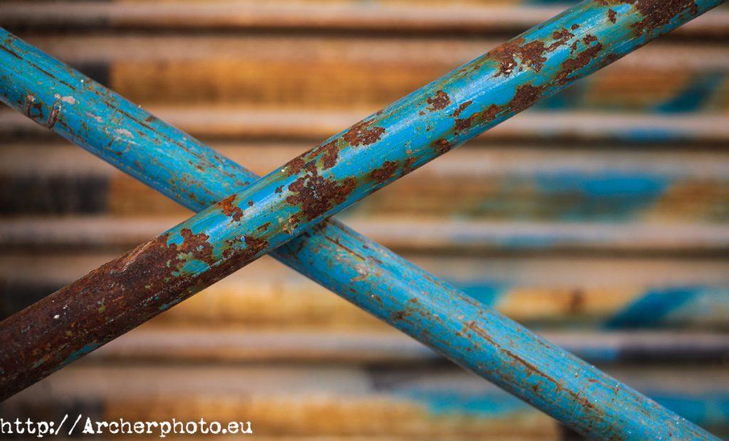 Metal oxidado, por Archerphoto, fotógrafo para empresas.