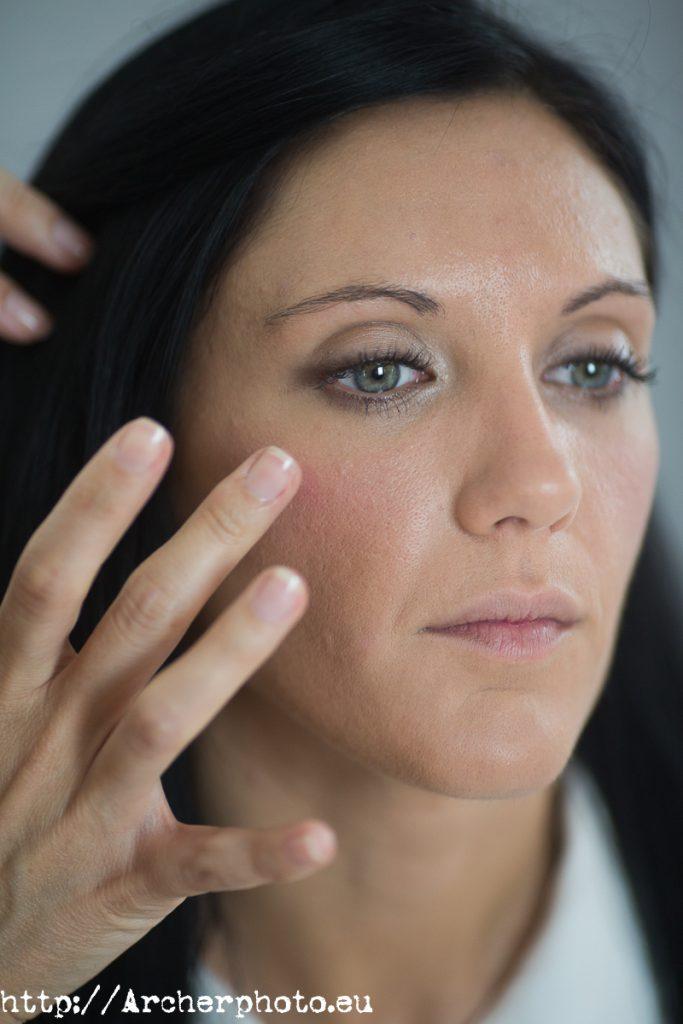 Maquillaje sencillo, de Nadia Alba para Archerphoto, fotógrafo profesional para books y retratos.