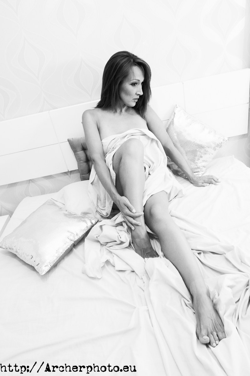Nadia. Boudoir en blanco y negro, black and white