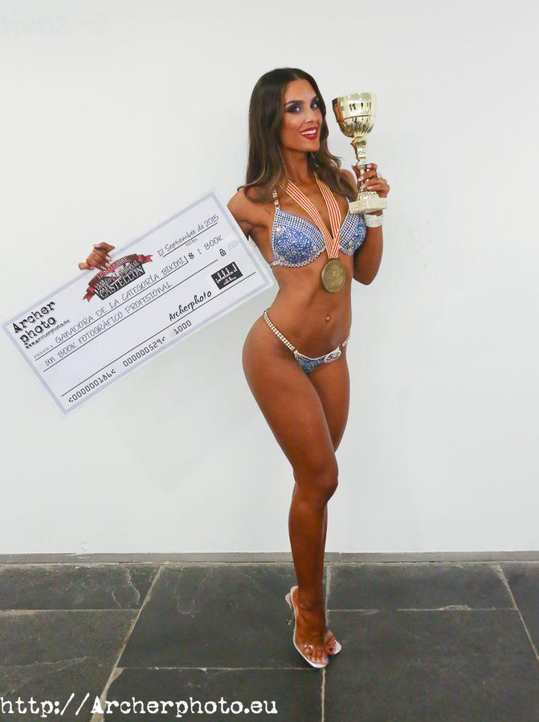 Claudia Fernández, ganadora de la categoría Bikini