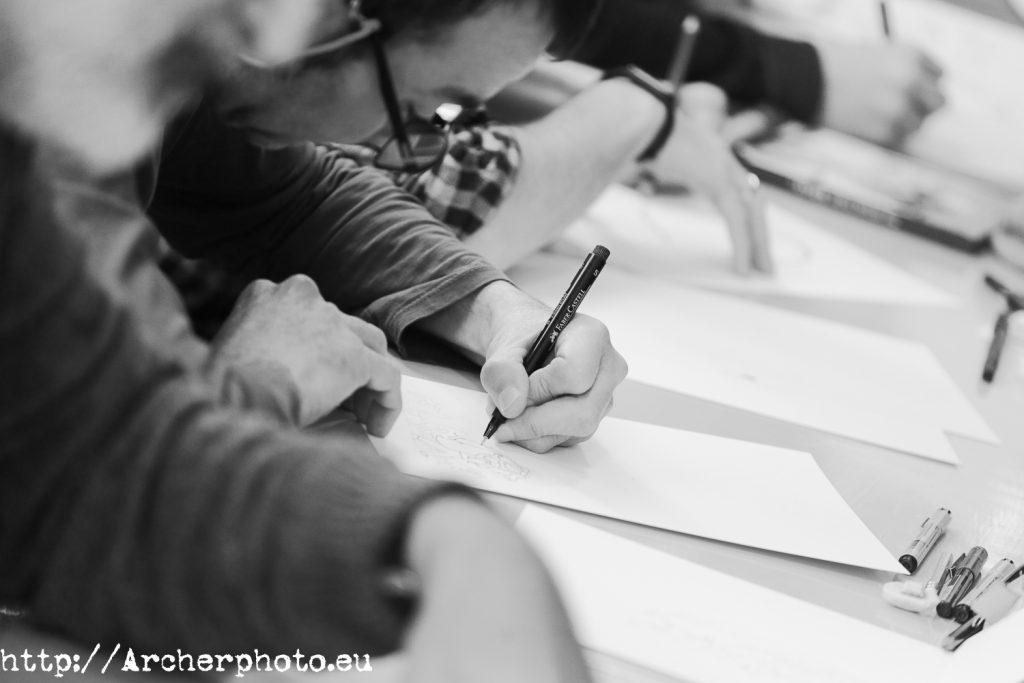 Dibujando paralos refugiados