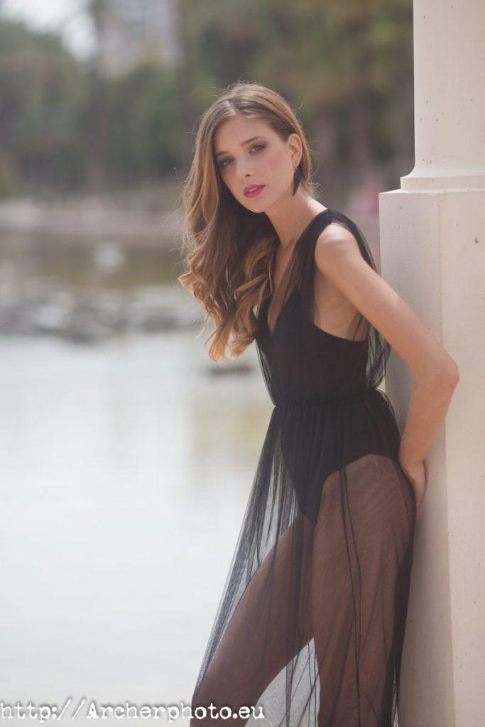 Carmen Álvarez en la sesión de su videobook. Look de ballet.