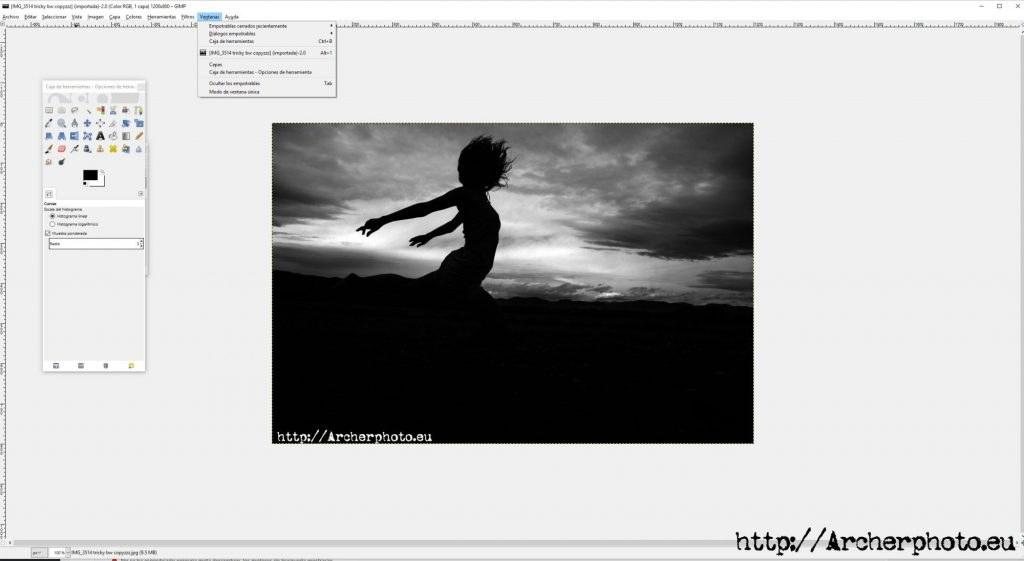 Editar fotografías con software gratuito: GIMP. Fotografo Madrid Valencia profesional Barcelona Zaragoza