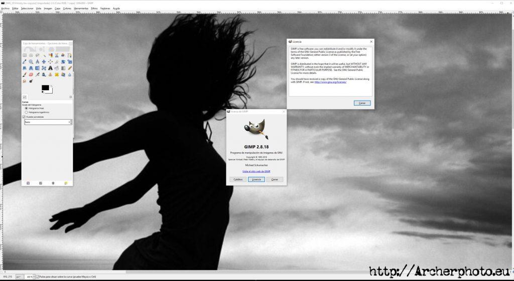 Editar fotografías con software gratuito: GIMP. Fotografía profesional Madrid València Castellón empresas