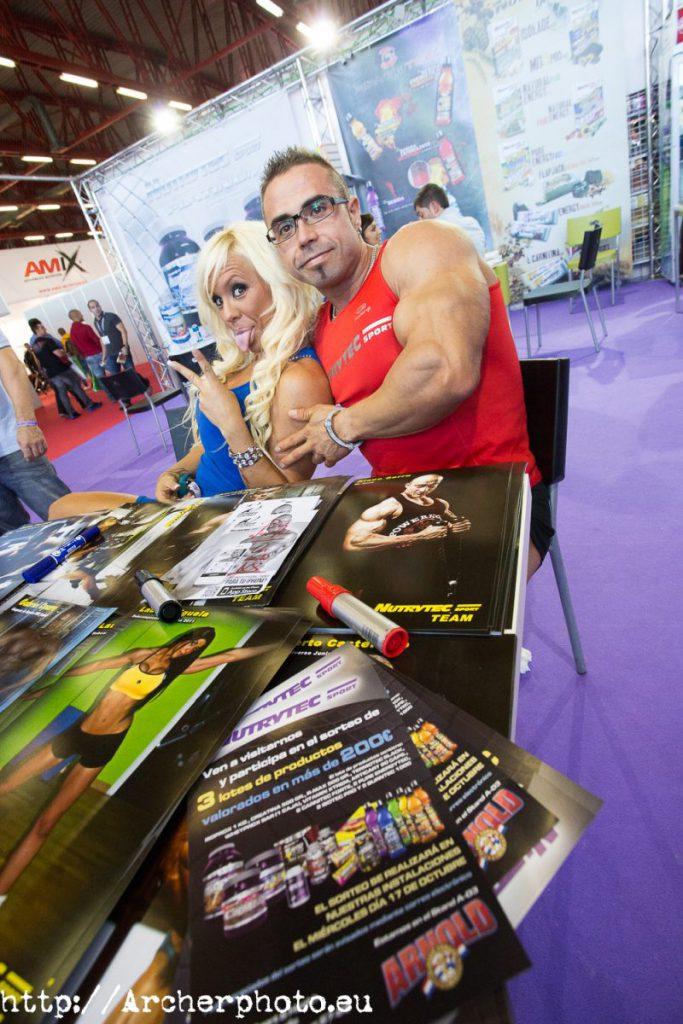 Julio Portet y Marina Brass en el Arnold Classic Europe 2012 en Madrid, por Archerphoto, fotógrafo profesional