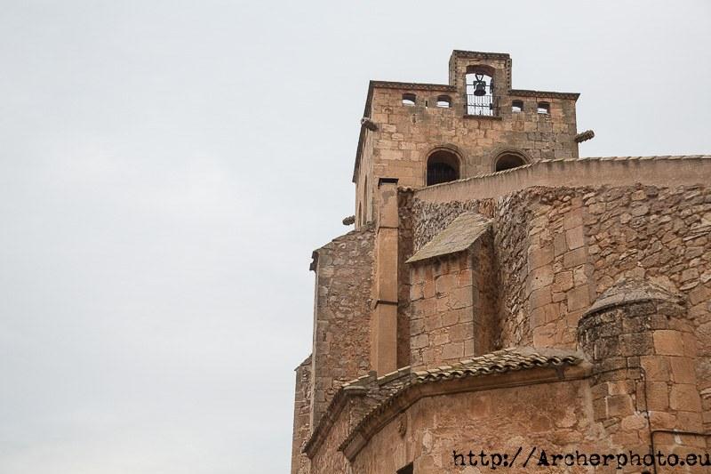 Detalle de la Iglesia de Santiago Apóstol.