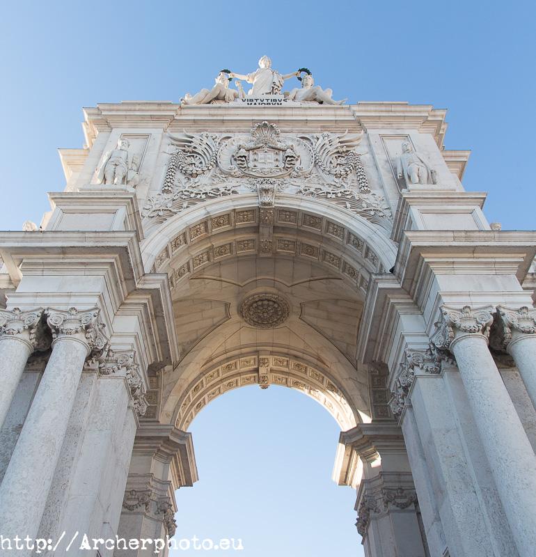 Arco do Triunfo da Rua Augusta, por Archerphoto. Fotografía de arquitectura y viajes.