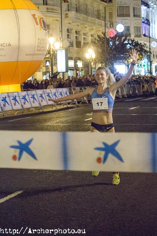 Liv Westphal, ganadora de la San Silvestre València 2017