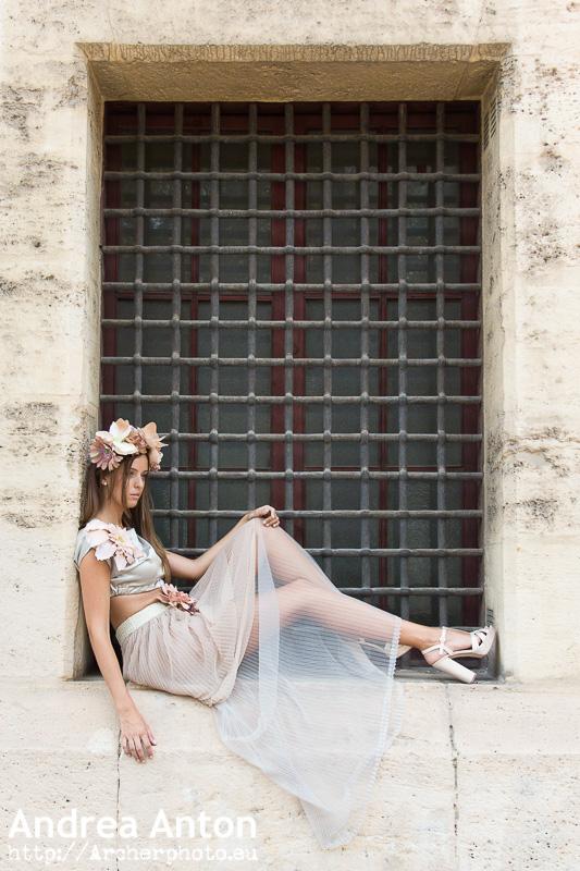Un vestido de Andrea Anton, por Sergi Albir. fotógrafo de moda
