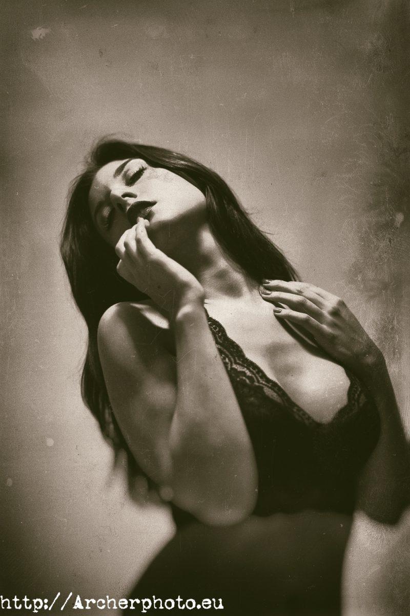 retrato Jéssica, tonos sepia, una foto y varios procesos, por Archerphoto, fotografo Valencia