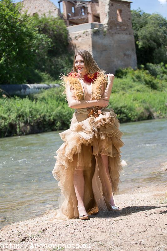 Vestido ecológico de Pier Franco por Sergi Albir, fotógrafo en Valencia
