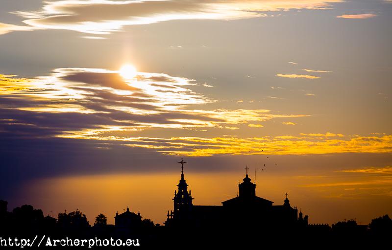 El Rocío al amanecer, Doñana con Canon Explorer Series, por Archerphoto, fotógrafo profesional