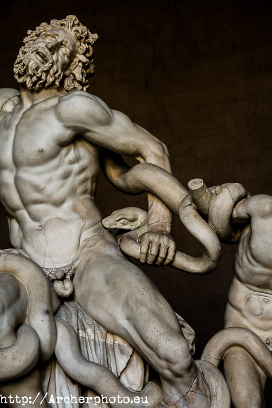 Laocoonte, detalle, Roma, Archerphoto, fotógrafo