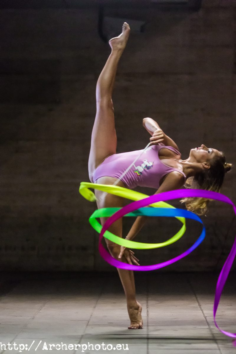 Elena López Benaches, gimnasta olímpica, por Archerphoto