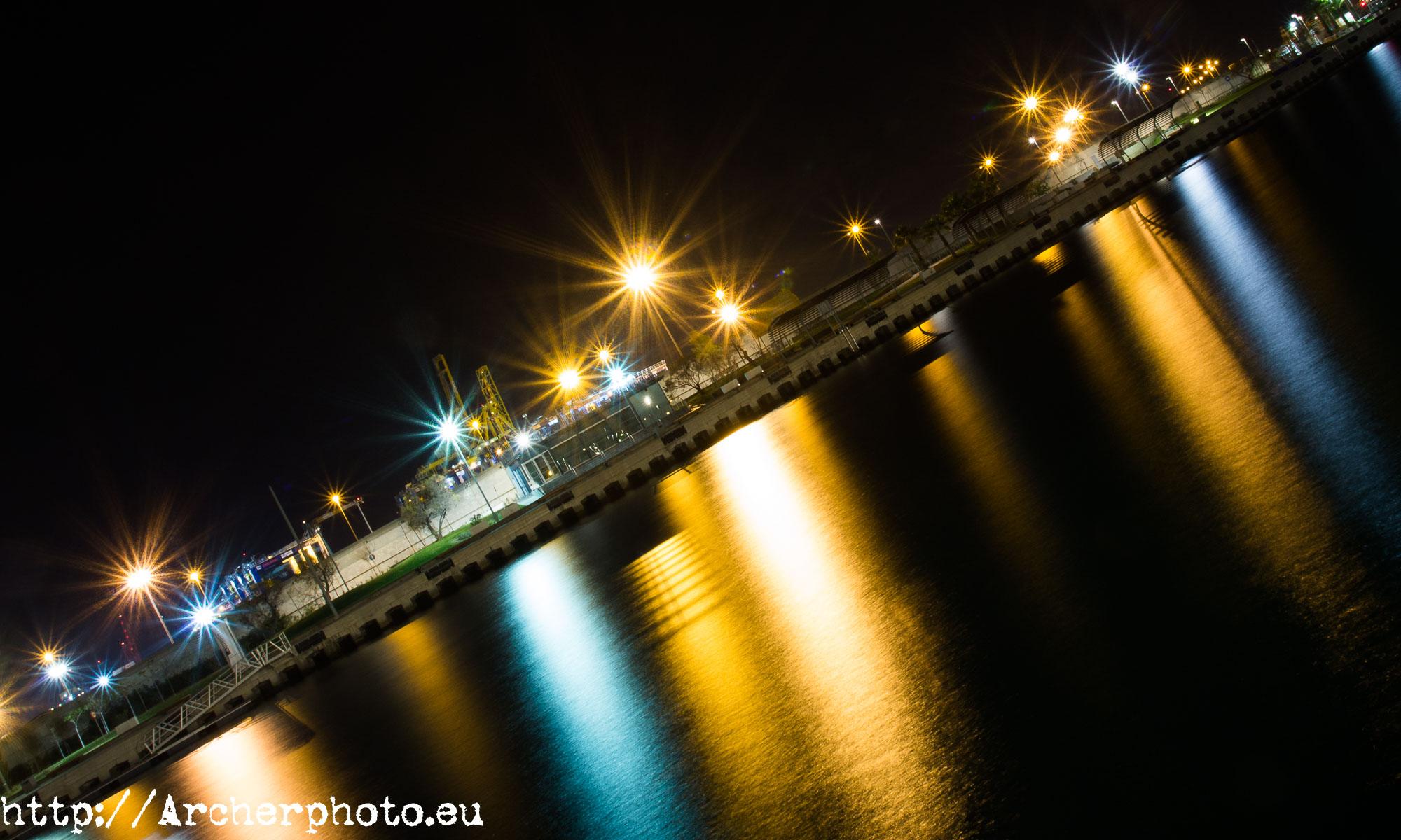 Puerto de Valencia, noche, fotógrafo profesional, Archerphoto