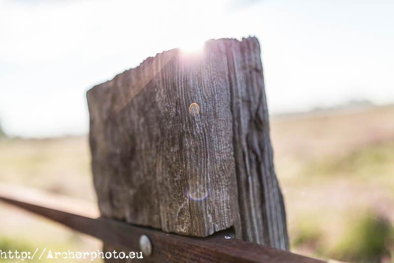 Una valla puede ser objeto de una fotografía artística.