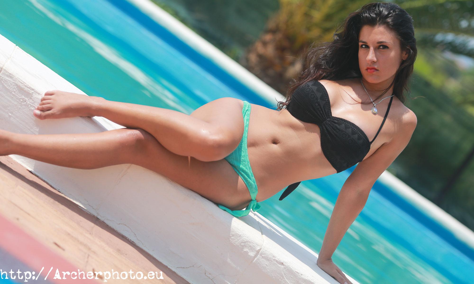 Jéssica en la piscina, Sergi Albir, Fotografía profesional