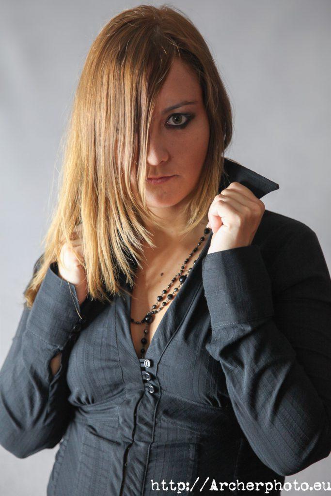 Marta en  en el estudio fotografico de Archerphoto en Valencia.