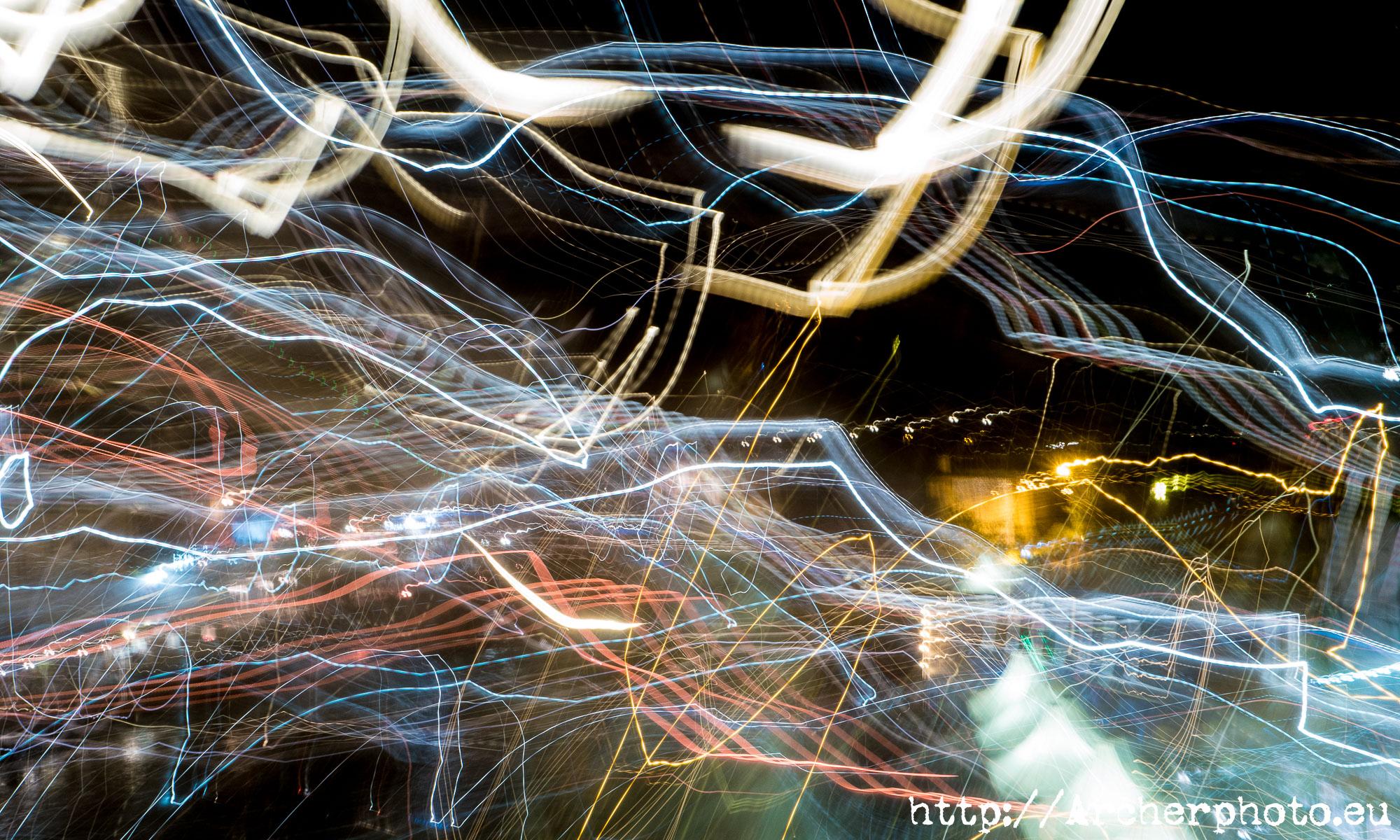 larga exposición y luces en Roma, por Archerphoto, fotógrafo profesional