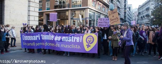 Día de la Mujer, Valencia, España, 2018,fotografo Valencia
