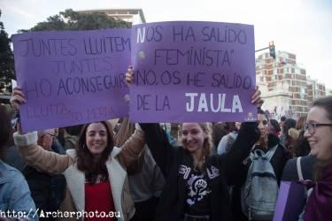 Día de la Mujer 2018 en Valencia, España,Fotografía: Archerphoto, fotografía profesional en España