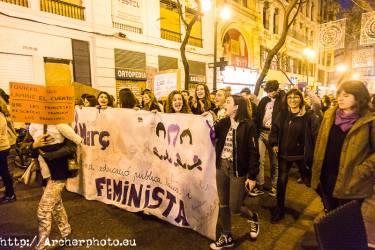 Día de la Mujer 2018 en Valencia, España,Fotografía: Archerphoto, professional photographer
