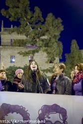 Día de la Mujer, Valencia, España, 2018, Plaza de la Virgen, Valencia