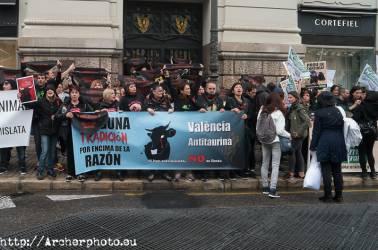 Manifestación antitaurina en Valencia por Archerphoto, foografo profesional